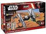 Revell Modellbausatz Star Wars First Order Special Forces TIE Fighter im Maßstab 1:51, Level 1, originalgetreue Nachbildung mit vielen Details, Build & Play mit Light&Sound, zum Bauen & Spielen, 06751