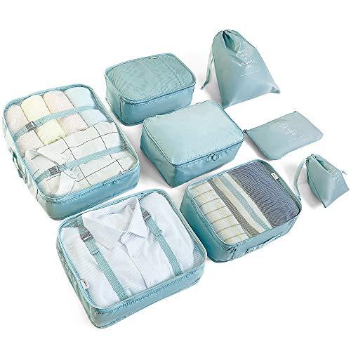 McNory Organizer Valigia Set di 8,Organizzatori da Viaggio Cubi di Imballaggio lavanderia sacchetto...