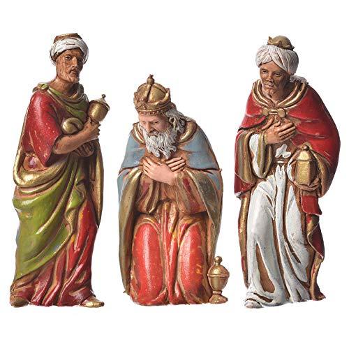 ALL SHOP - Re Magi 3 pz Moranduzzo 8 cm Presepe Natale Statuine Presepe