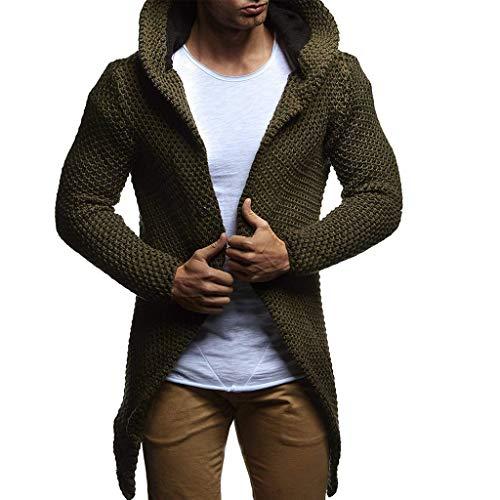 ┃BYEEEt┃ Cappotto da Uomo Autunno Inverno Cappotto Lungo Giacca Sweater Jacke Hoodie Basic...