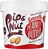 Pip & Nut Smooth Peanut Butter – 1kg, Pack of 2 - Absolutely No Palm Oil – No Added Sugar – Always High-Oleic Peanuts - Natural Source of Protein and Healthy Fats