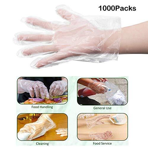 Velidy preparazione del cibo guanti usa e getta 1000PIECE guanti usa e getta in plastica per...