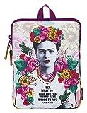 "Frida Khalo Custodia Per Computer Portatile E Tablet 10,6"", Colore: Rosa/Bianco"
