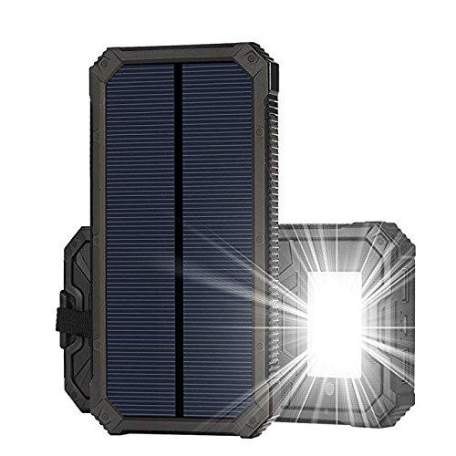 Soluser Caricatori solari 15000mAh, Portatile Dual USB Batteria Solare Caricatore Veloce Batteria...