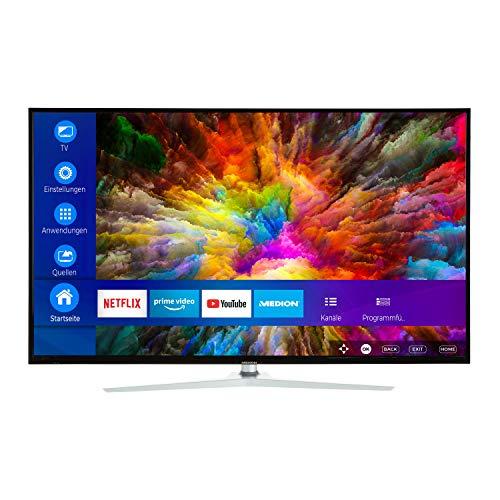 MEDION X15049 125,7 cm (50 Zoll) UHD Fernseher (Smart-TV, 4K Ultra HD, Dolby Vision HDR, Netflix, Prime Video, WLAN, HD Triple Tuner, DTS Sound, PVR, Bluetooth)
