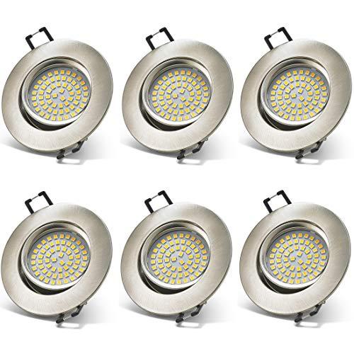 YWX 6x Faretti LED da Incasso per cartongesso,Bianco Naturale 4000k Dimmerabile 5W Luci da Incasso...