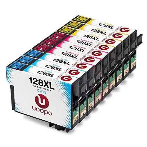 Uoopo T128 Compatibile per Epson T1282 T1283 T1284 Cartucce d'Inchiostro Epson Stylus SX445W S22...