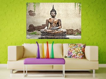 Selbstklebendes-cuadro de Buda Estatua-Fáciles de pegar-Wall Print, Wall Paper, Póster, pantalla con pegamento de puntos de vinilo para paredes, puertas, muebles y superficies lisas de Trend paredes 4