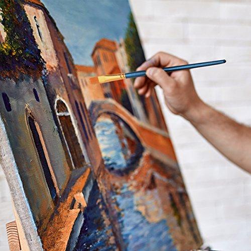 Ensemble de pinceaux de peinture artiste aquarelle avec - Peinture acrylique pour bois ...