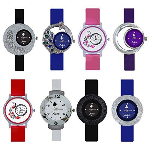 Frida Analogue Multi-Colour Dial Women's Watch WAT-W05-201-202-203-204-205-206-207-208