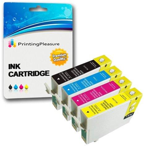 4 Cartucce d'inchiostro compatibili per Epson Stylus S22 SX125 SX130 SX230 SX235W SX420W SX425W...