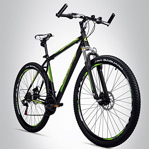 Bergsteiger Detroit 29 Zoll Mountainbike, geeignet ab 170 cm, Scheibenbremse, Shimano 21 Gang-Schaltung, Gabel-Federung mit Lockout-Funktion, Jungen-Fahrrad & Herren-Fahrrad