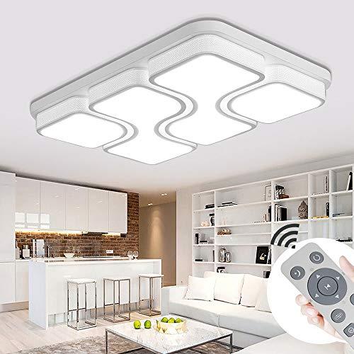 MIWOOHO 100W LED Deckenleuchte Dimmbar Deckenlampe Design Angenehmes Licht Wohnzimmer Beleuchtung Wandleuchte [Energieklasse A++]
