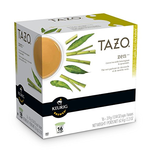 Keurig Tazo Zen Tea 16-Count K-Cups for Keurig Brewers