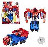 TRANSFORMERS Robots In Disguise - Robot Combiner Optimus Prime camion 25cm - Jouet transformable 2 en 1