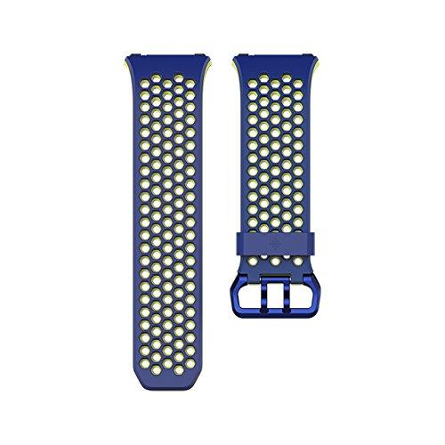 Fitbit Ionic, Cinturino Sport Unisex-Adulto, Blu, Large