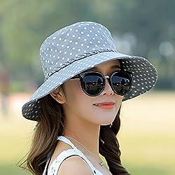 Summer Sun Hat, Outdoor Sun Hat, Anti Ultraviolet Beach Hat,Size (55-59Cm),Light Grey