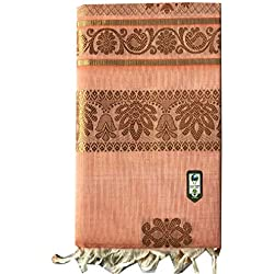 Traditional Kerala Kasavu Saree Colour Saree With Golden Design On The Body With Golden Border