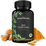 Bio Curcuma (Kurkuma) 180 Kapseln, Hochdosiert + Curcumin + Piperin. 3000mg Tagesgesamtdosis. Vegan & Ohne Zusatzstoffe. Laborgeprüft Aus Deutschland