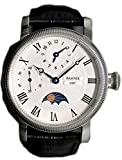 Parnis Men's Hand Wind Mechanical Watch Moon Phase Seagull Movement St36