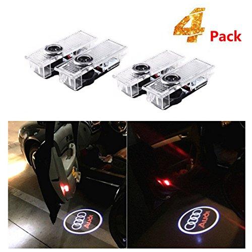 4 pezzi di luci per porte auto LED 3D Car Light Entry illuminazione lampada del proiettore di...