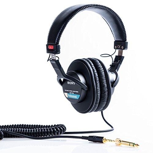 Sony MDR-7506 Cuffie Stereo, Dinamiche Professionali, Driver da 40 mm, Adattore 3.5mm / 6.3mm, Nero
