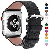 15 colori per Cinturino Apple Watch 38mm,Fullmosa YanPelle Cinturino/Cinturini di Ricambio Apple Watch Band/Strap/Orologio/Bracciale Apple Watch Series 3, iWatch Series 3, Series 2, Series 1, Edizione 2015 2016 2017, Nero