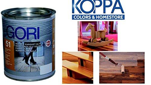 GORI 51 Vernice per legno PARQUET e SCALE in legno ***** SUPERIOR (opaco) 750 ml..