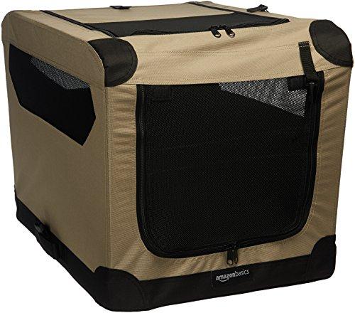 AmazonBasics - Transport铆n para perros, blando, plegable, 66 cm