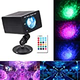 Disco Light Stage Light, 1KOOT Strobe DJ Light 16 Color Water Ripple Light With Sound Activated Remote Rotating Flash Party Club Lights - Suitable For KTV Fitness Club Wedding Children's Birthday Bar.