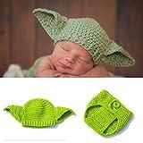 Tubicu - Disfraz de Yoda de Star Wars Hecho a Mano para recién Nacido, Accesorios de fotografía