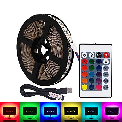 Striscia LED RGB USB,5V 5 metri 300 leds 5050 Kit di retroilluminazione TV,Luce a strisce a led...