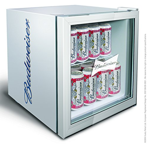 husky hus hm72 budweiser 45 8 litre branded mini fridge. Black Bedroom Furniture Sets. Home Design Ideas