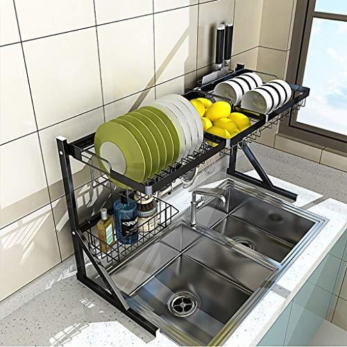 YAN Over The Sink Dish Stendino, Porta Piatti in Metallo/Scolapiatti for Ciotole, piattini, Posate,...