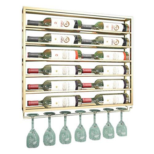 LXDDP 2-in1 Disegni Scaffale e portabottiglie per Bottiglie di Vino galleggianti, Metallo fissato al...