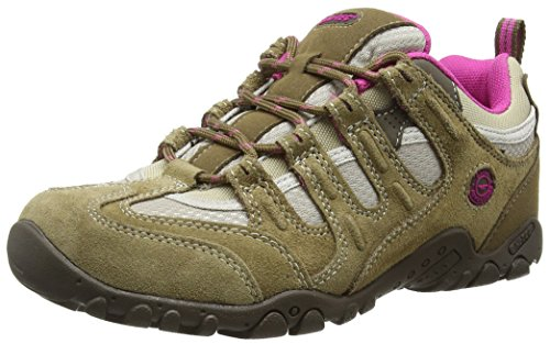 Hi-Tec Quadra Classic - Zapatillas de Senderismo para Mujer, Beige (Taupe/Cyclamen), 39 EU