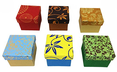 Creates & Designs Foil Stamped Hand-Crafted Mini Ring Box Set Of 6