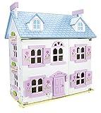 Villa Sueño Mansion Casa de Muñecas de Madera Muebles Mobiliario Bella Casita Residencia de Piso Equipo Completo Excelente Calidad DIVERSIÓN Y EDUCACIÓN Regalo Para Cumpleaño Persianas Muñecas En Set Color Rosa