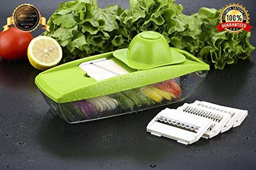 Bagonia Mandoline Vegetable Slicer, Food Slicer And Fruit Cutter - With 5 Interchangeable Sharp Blades