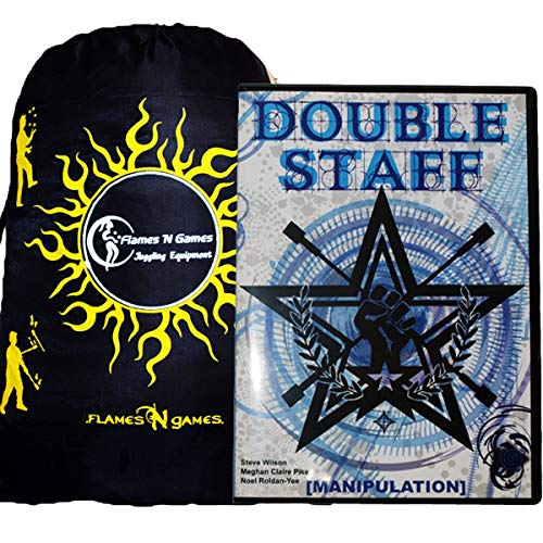 Double Staff Manipulation DVD - Staff Spinning DVD + Bag! Great Practice and Fire Staff Instructional, Inspirational DVD