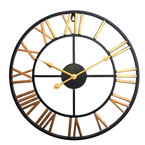 Jo332Bertram 40cm Orologio da Parete in Metallo - Stile Vintage - Orologio da Muro Silenzioso -...