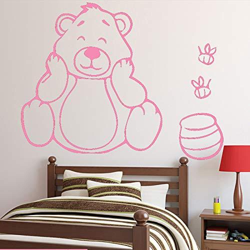 guijiumai Orso Ape Adesivi murali Divertenti Decorazioni per Camera da Letto per Bambini Carta da...