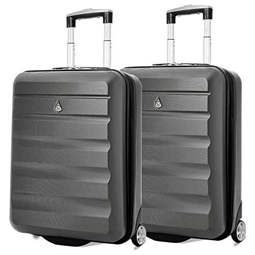 Set di 2 trolley Aerolite 55x40x20 cm - Dimensione massima a bordo dei voli di Ryanair (40L) -...
