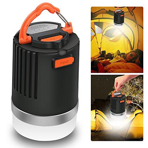 Lanterna da campeggio a LED & Power Bank, Elepowstar 2-in-1 impermeabile 10050 mAh USB...
