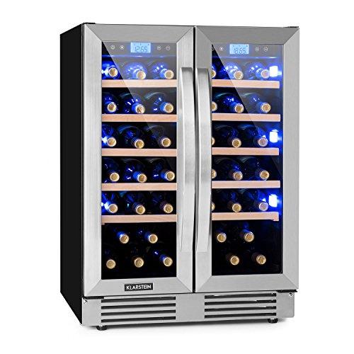 Klarstein Vinovilla Duo 42 • Frigo per vino • Frigorifero per bevande • Volume: 126 l • 2...