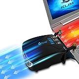 KLIM Tornado Raffreddatore per Laptop - INNOVATIVO - Raffreddamento Rapido - Dissipatore di Calore USB per Computer Portatili - Piccolo + Leggero + Potente + Effettivo contro il Surriscaldamento