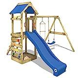 WICKEY Portique de jeux FreeFlyer Aire de jeux en bois Cabane pour enfants...