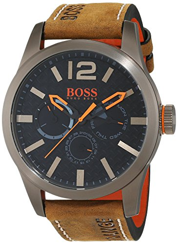 Hugo Boss Orange Paris Men's Quartz multi dial Brown Leather Strap 1513240