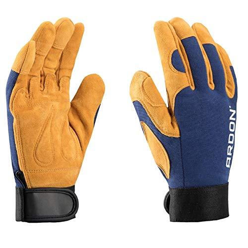 PREMIUM guantes de trabajo de lujo, para la mecánica, montaje, embalaje, almacén, jardinería, el transporte, guantes de motocicleta, las tareas domésticas, hobby (1 Par, 9)