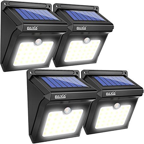 baxia lampe solaire 28 led ampoule de s curit avec d tecteur de mouvement solaire sans fil pour. Black Bedroom Furniture Sets. Home Design Ideas